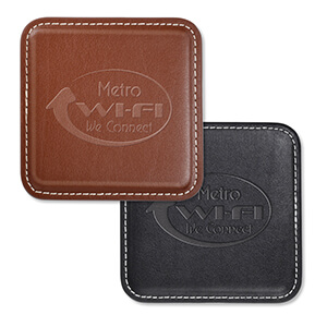 Item: 8053 - Vintage  Leather Square Coaster